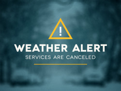 January 11th Services CANCELED